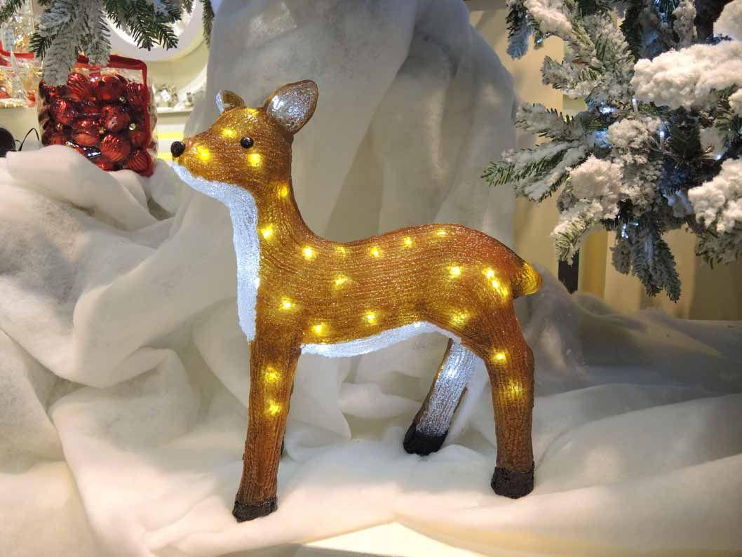 Decorazioni Luminose Natalizie Per Esterni : Figura luminosa natalizia per esterno acrilico